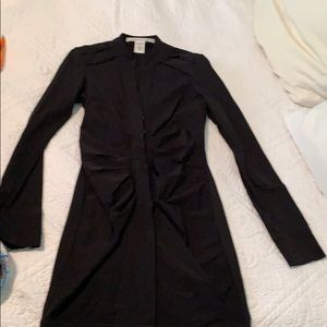 DVF fitted black dress